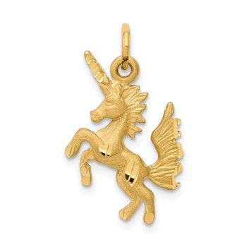 14k Dancing Unicorn Charm