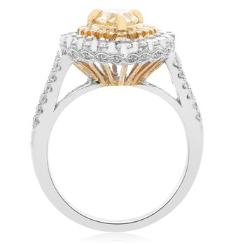 Pear-shaped Fancy Yellow Diamond Ring