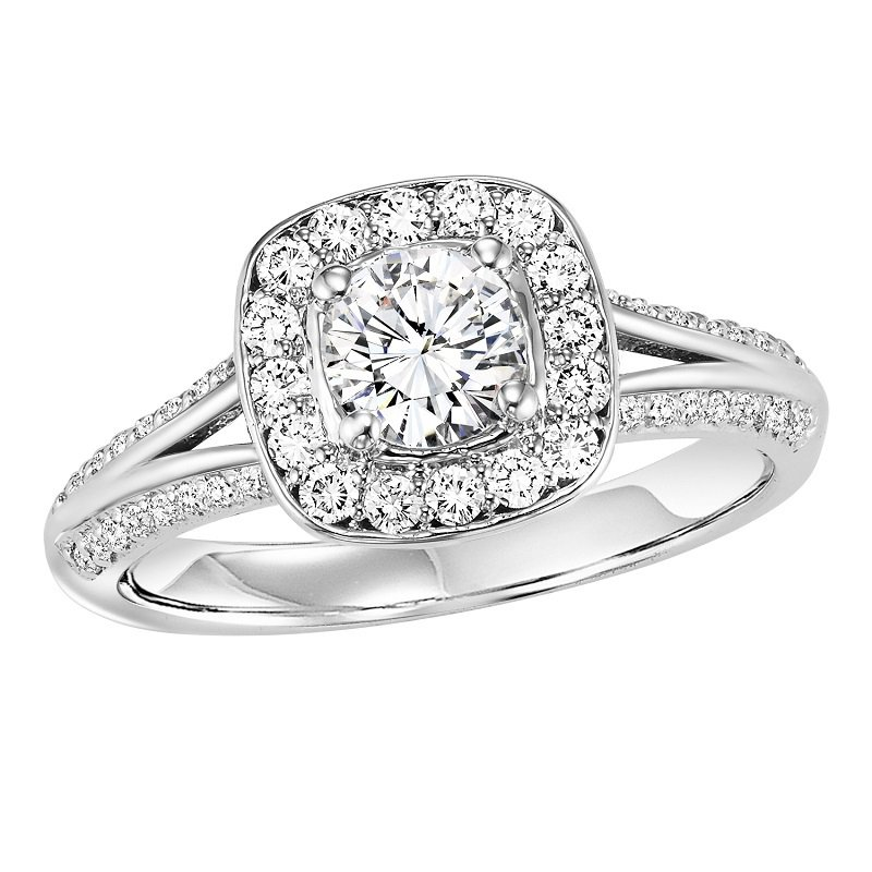 Bridal Bells 14K Diamond Engagement Ring 3/8 ctw With 3/4 ct Center
