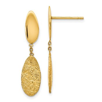 Leslie's 14K Polished D/C Post Dangle Earrings