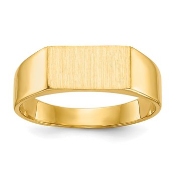 14k 5.5x10.5mm Closed Back Signet Ring