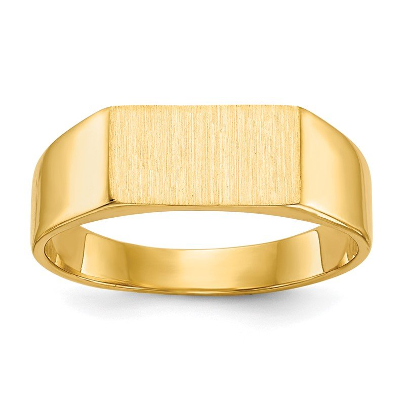 Quality Gold 14k 5.5x10.5mm Closed Back Signet Ring