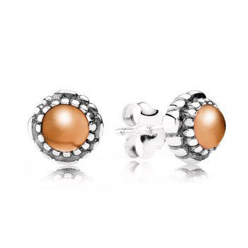 Birthday Blooms Stud Earrings, July, Carnelian