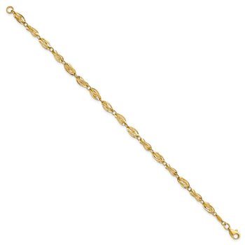 14K Gold Polished Fancy Bracelet