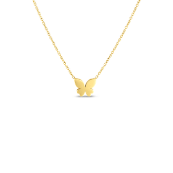 18KT GOLD PRINCESS MARIPOSA NECKLACE