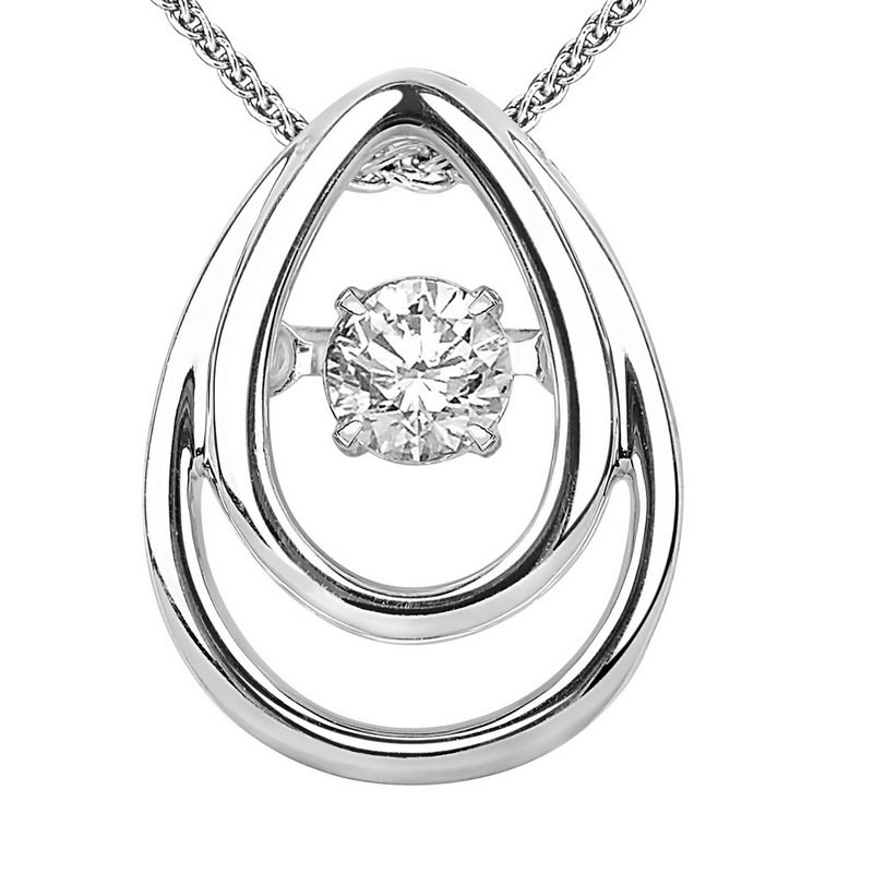 Necker's Signature Collection 14K Diamond Rhythm Of Love Pendant 1/8 ctw