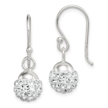 Sterling Silver Dangle with Stellux Crystal Earrings