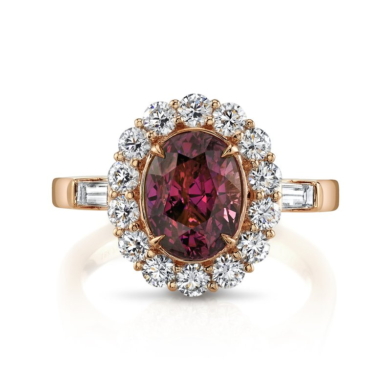 Omi Prive Purplish Pink Sapphire & Diamond Ring