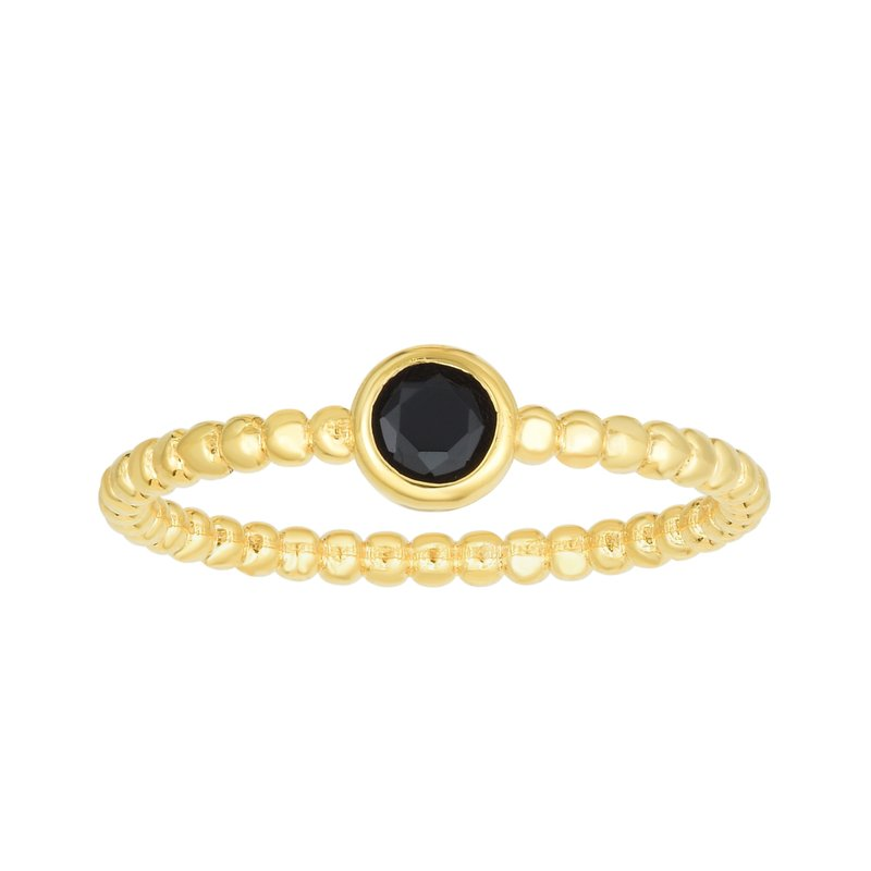 Royal Chain 14K Gold Popcorn Gemstone Ring