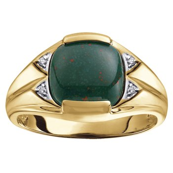 Bloodstone Gents Ring