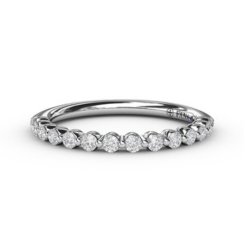 1/4ct Single Prong Set Anniversary Band