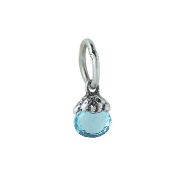 Tiny Light Birthstone Charm - March