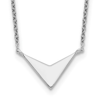Sterling Silver Polished V-Shape Necklace