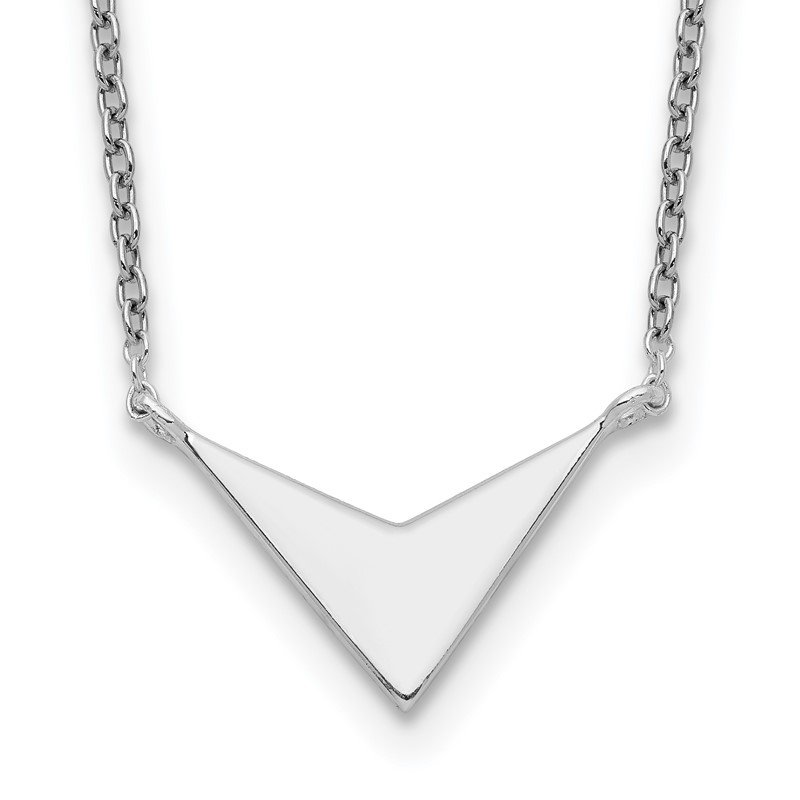 Quality Gold Sterling Silver Polished V-Shape Necklace