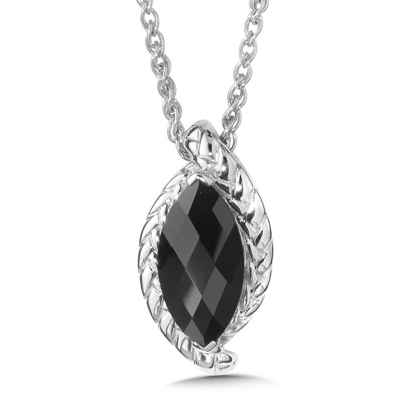 Colore Sg Sterling Silver Onyx Pendant