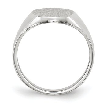 14k White Gold 11.5x8.0mm Closed Back Signet Ring