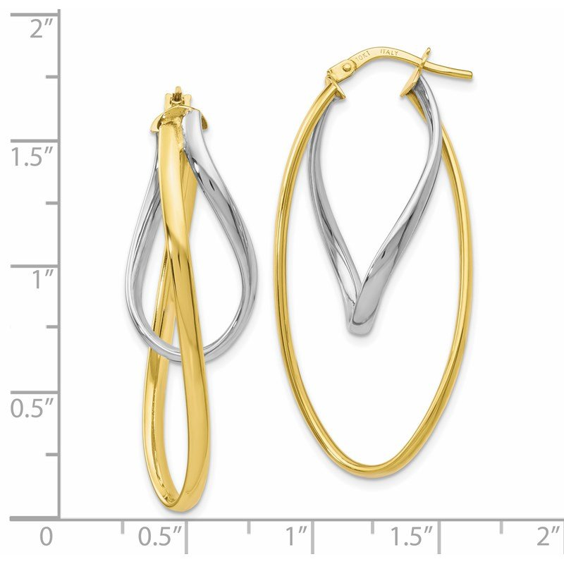 Leslie's Leslie's 10K Two-Tone Polished Hoop Earrings