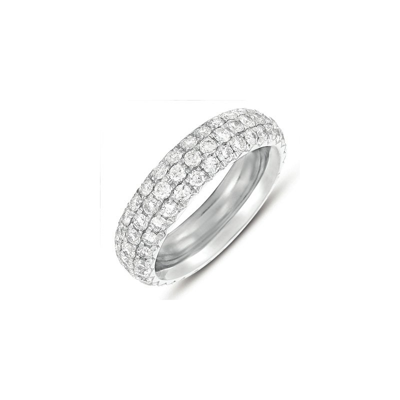 S. Kashi & Sons Bridal White Gold Pave Eternity Band