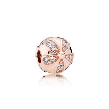 Dazzling Daisies Clip, Pandora Rose™ Clear Cz