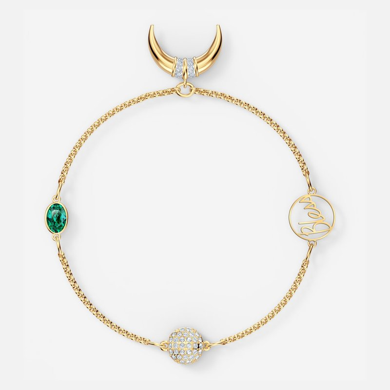 Swarovski Swarovski Remix Collection Horn Strand, Green, Gold-tone plated
