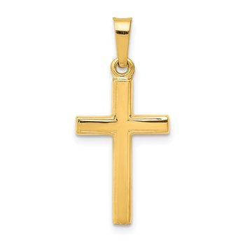 14k Polished Latin Cross Pendant