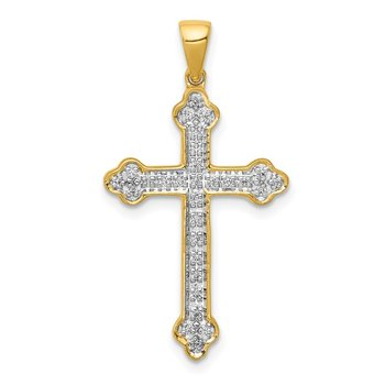 14k 1/10ct. Diamond Cross Pendant
