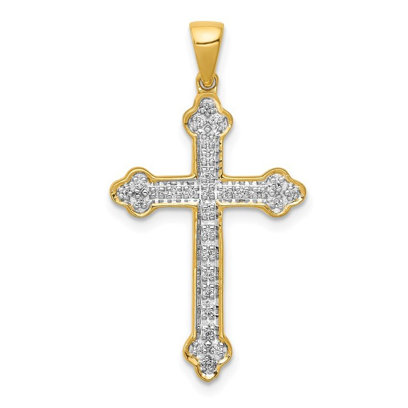 Quality Gold 14k 1/10ct. Diamond Cross Pendant