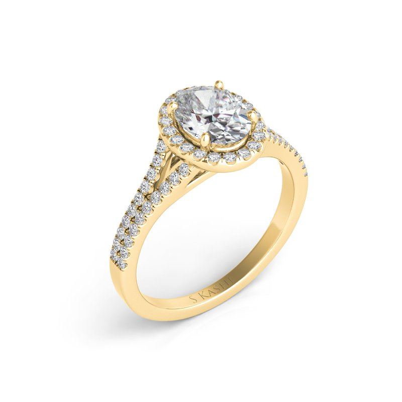 S. Kashi & Sons Bridal Yellow Gold Oval Engagement Ring