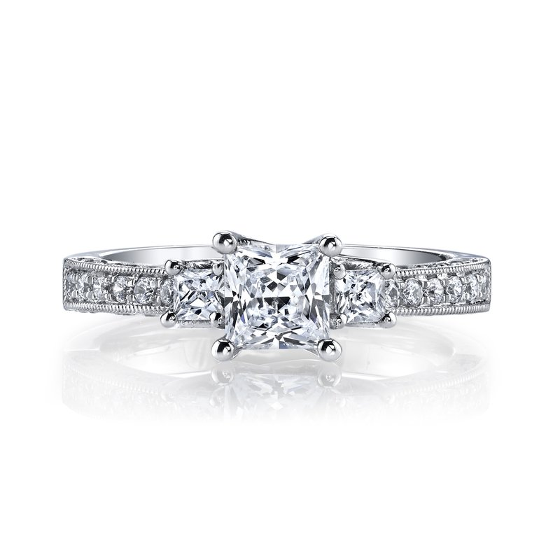 MARS Jewelry MARS 25923 Diamond Engagement Ring 0.46 Ct Rd, 0.25 Ct Pr.