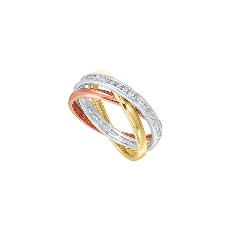 Gems One Diamond Triple Entwined Band in 14k Tri-Color Gold (1/2ctw)