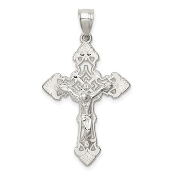 Sterling Silver Polished Crucifix Pendant