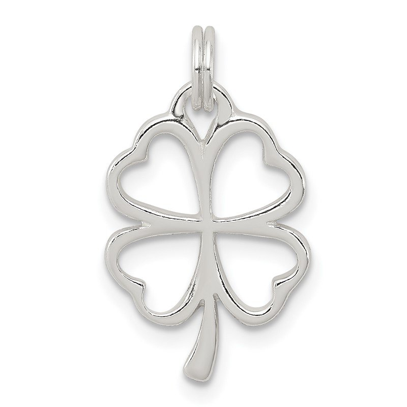JC Sipe Essentials Sterling Silver Four Leaf Clover Charm