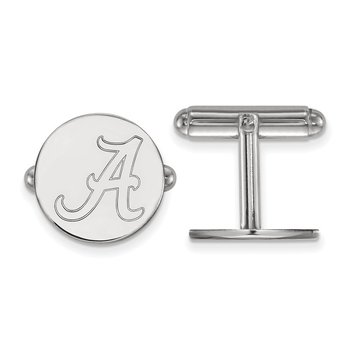 Sterling Silver University of Alabama NCAA Cuff Links
