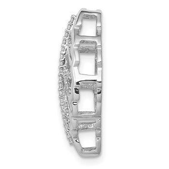 14k White Gold 1/6ct. Diamond Leaf Chain Slide
