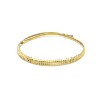 14K Yellow Gold Omega 6mm Necklace
