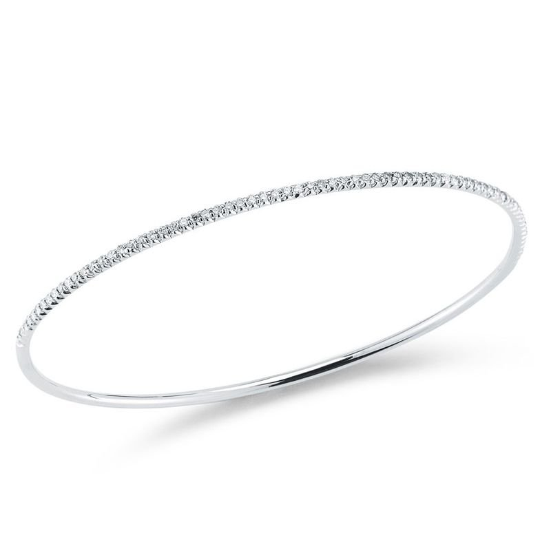 Roberto Coin Bangle With Diamonds &Ndash; 18K White Gold
