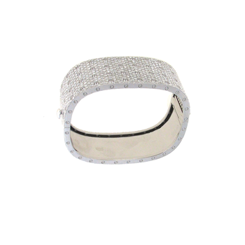 #25518 Of 4 Row Pave Diamond Bangle