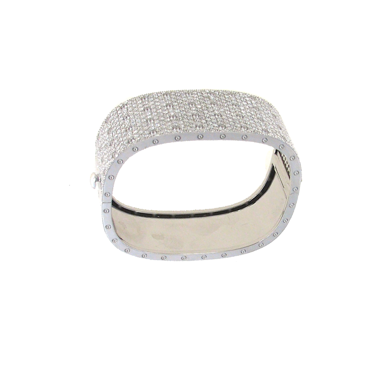 Roberto Coin  #25518 Of 4 Row Pave Diamond Bangle