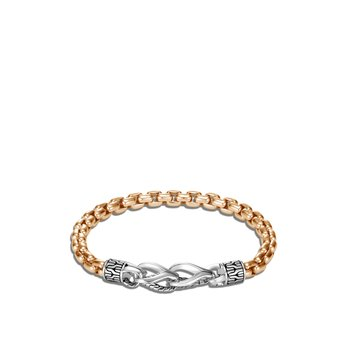 Asli Classic Chain Link 6MM Box Chain Bracelet, Silver, Bronze