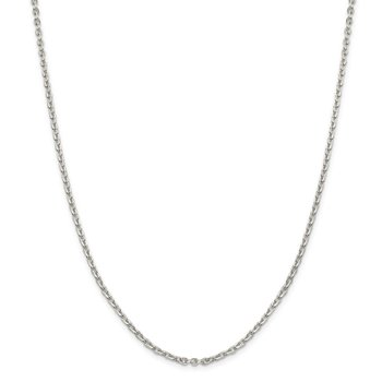 Sterling Silver 2.75mm Flat Link Cable Chain