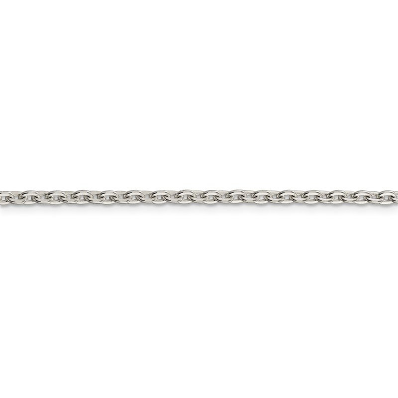 Quality Gold Sterling Silver 2.75mm Flat Link Cable Chain
