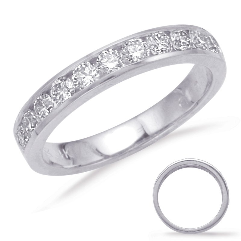 S. Kashi & Sons Bridal Platinum Channel Set Band