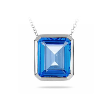 14K WG Topaz Necklace