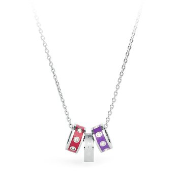 316L stainless steel, enamels and cristals Swarovski® Elements
