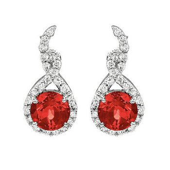 Ruby Earrings-CE2282WRU