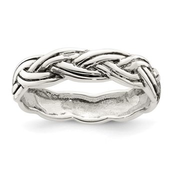 Sterling Silver Antiqued Celtic Band