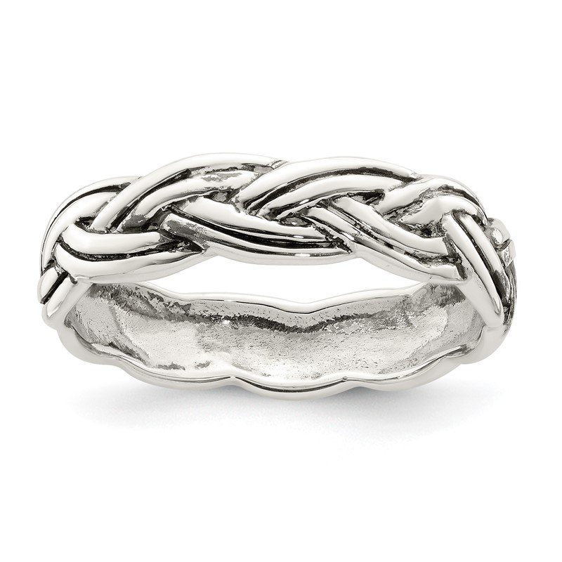 Quality Gold Sterling Silver Antiqued Celtic Band