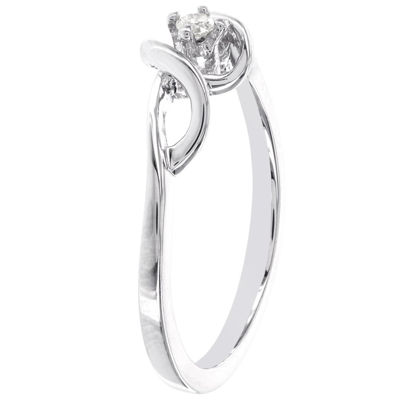 d93fc61cac831 Moody's Jewelry: Moody's Signature Sterling Silver Round Diamond ...