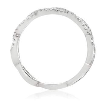 White Gold & Diamond Infinity Band