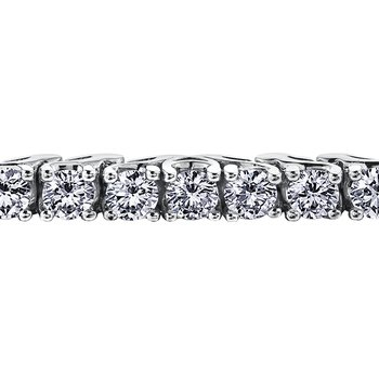 Maple Leaf Diamond Eternal Flames Tennis Bracelet
